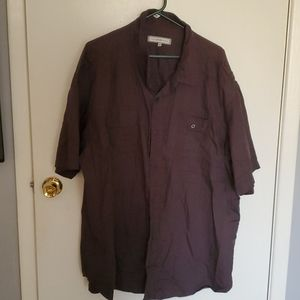 Mens plus size short sleeve button down